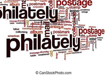 Philately word cloud
