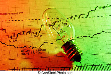 Photo of a Light Bulb and Stock Chart - Investment Ideas
