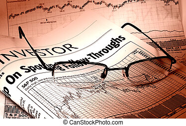 Photo of Glasses and Business Stock Charts