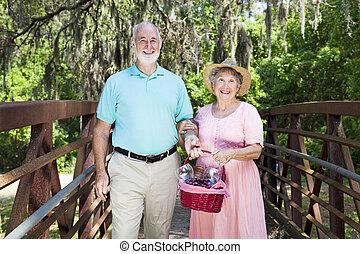 Picnic Seniors in the Park