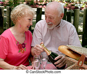 Picnic Seniors - Loving Gaze