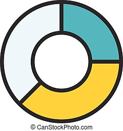 Pie Chart outline icon