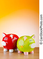 Piggy bank in business concept