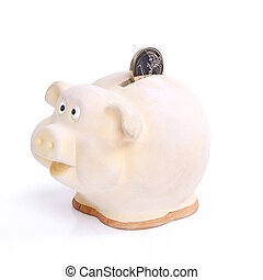 Moneybox on the table