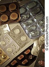 Pills in a blister packs