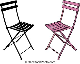 Pink garden chair