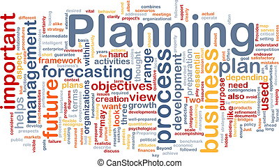 Planning is bone background concept