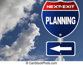 Planning road sign