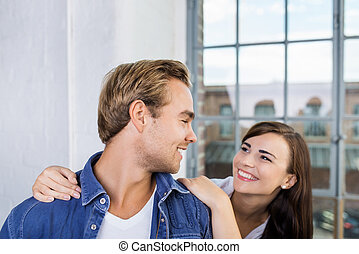 Playful loving couple