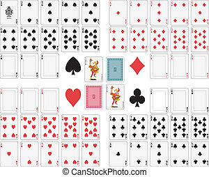 Full deck to customize. Standard size. Very accurate. Joker, ace of spade and back original design.