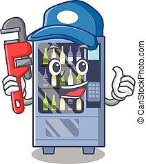 Plumber wine vending machine mascot shaped character