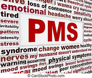 PMS medical poster design