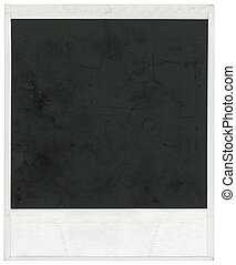 Big scan of polaroid frame isolated inside and outside with clipping path
