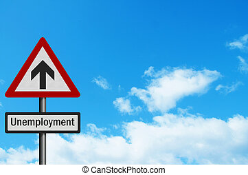 Political issue: 'sky high unemployment' concept. Photo realist