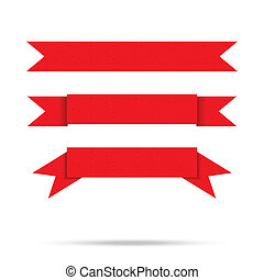 popular red ribbon old paper vintage label banner isolated vector