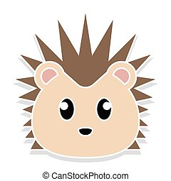 Porcupine head cartoon