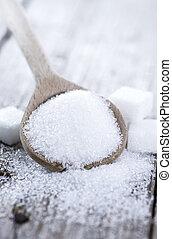Portion of white sugar (studio shot)