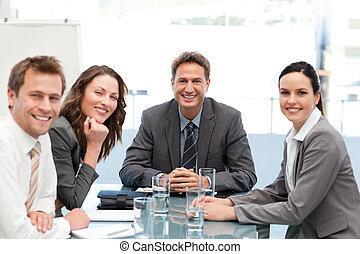Portrait of a positive team