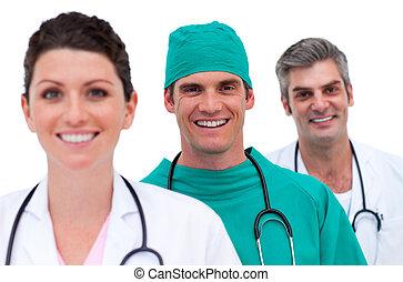 Portrait of a smiling medical team