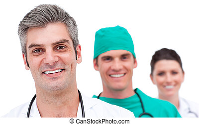Portrait of a successful medical team