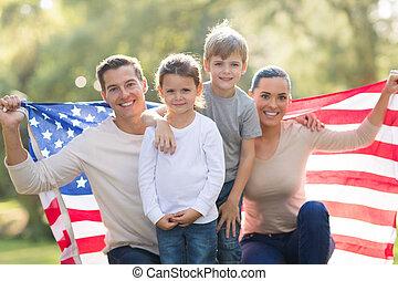 beautiful modern american family