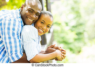 happy african american couple