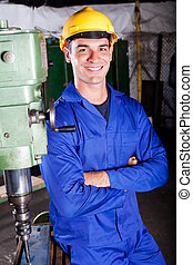 portrait of industrial machinist