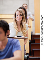 Portrait of students during examination