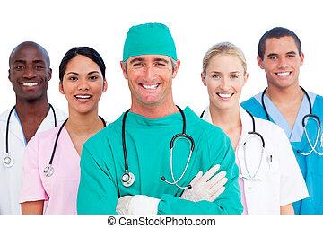 Portrait of successful medical team