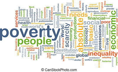 Poverty background concept