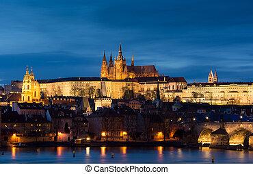 Prague. Panoramic image of Prague, capital city of Czech Republic,