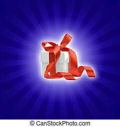 present box with colored background