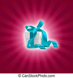 present box with magenta background