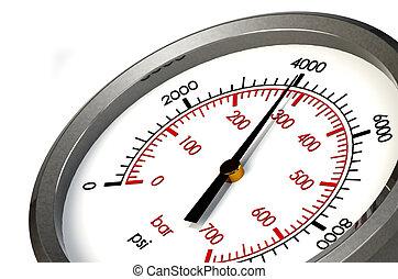 A Pressure Gauge Reading a Pressure of 4000 PSI