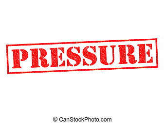 PRESSURE red Rubber Stamp over a white background.