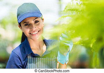 pretty female nursery worker