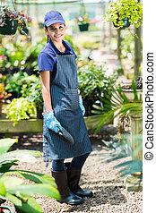 female nursery worker