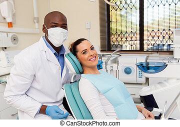 patient in dentist office
