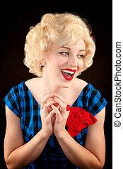 Pretty Retro Blonde Woman