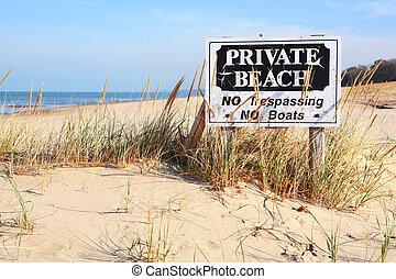 Private Beach in Michigan