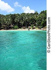 private beach, pp island