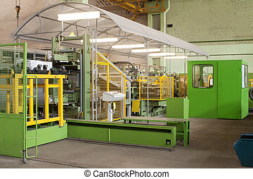 production machine for cutting metal plates