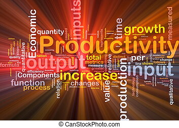 Productivity background concept glowing