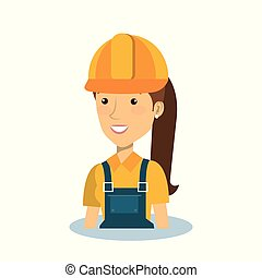 professional construction woman character