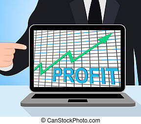 Profit Chart Graph Displaying Increase Cash Wealth Revenue