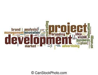 Project development word cloud