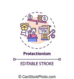 Protectionism concept icon