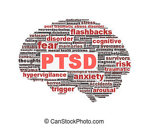 PTSD symbol conceptual design isolated on white