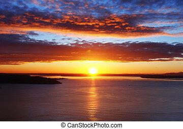 Stunning Sunset over Seattle