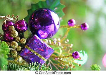 Purple present ornament